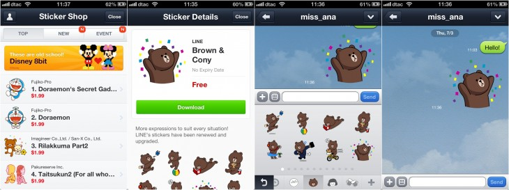 line stickers 730x273 Eastern influence: Paths new messaging and monetization model are straight out of Asia