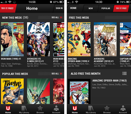 marvelscreens1 Marvels on demand subscription service lands on iOS, but falls short due to a dated back catalog