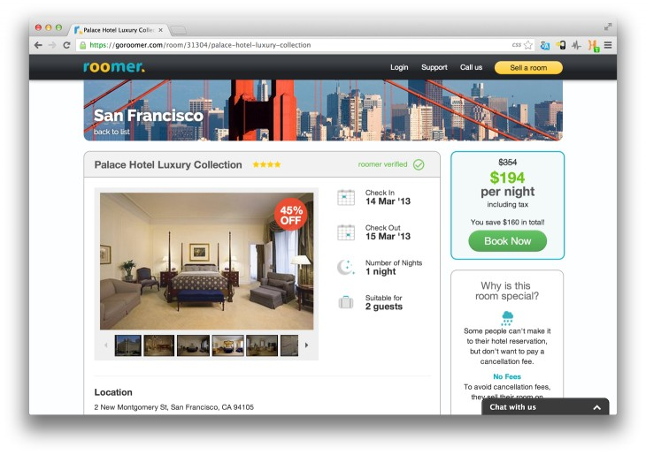 roomer 730x515 Roomer raises $2m to let you sell on that hotel reservation you no longer need
