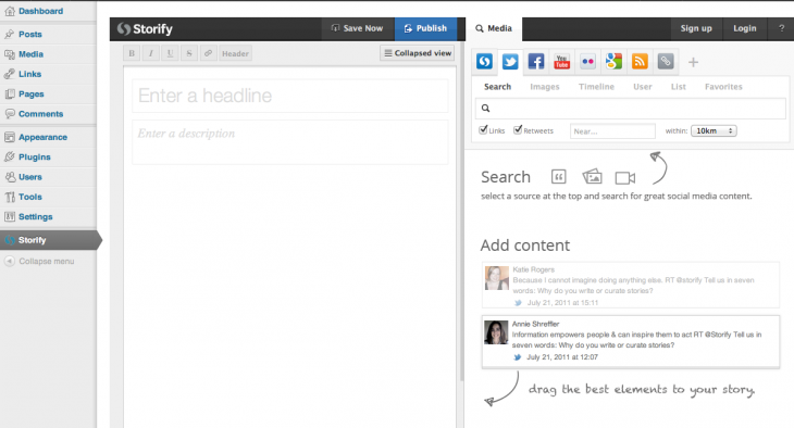 screenshot 1 730x394 Storify starts to monetize with VIP, a premium plan for live blogging, custom sources and more