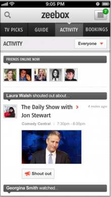 zeebox 220x390 Zeebox updates second screen iOS app with new profile pages and live zeetag previews