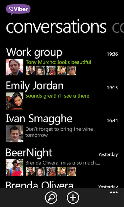 Conversations 768 1280 Skype rival Viber gives Windows Phone 8 users a new option for free calls and messages
