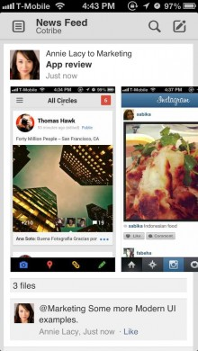 FeedwithImages 220x390 Convo's revamped iOS app is a slick and speedy way to share with colleagues on the go
