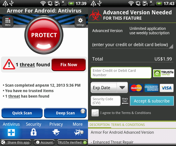 android fake antivirus Criminals trick Android users with in app ads for fake antivirus, charge to remove nonexistent threats