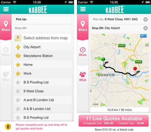 kabbee1 Minicab booking service Kabbee teams up with Cordic to improve pick up times across London
