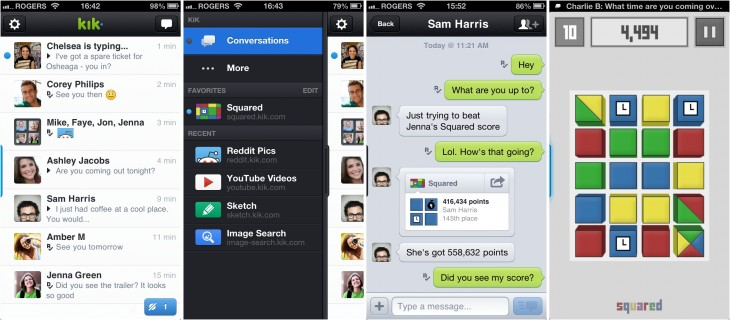 kik 730x320 Mobile messaging service Kik lands $19.5m to fuel its move into content, gaming and making money