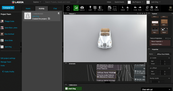 lagoa 730x386 Backed by 500 Startups and Atlas Venture, Lagoa launches a browser based 3D rendering platform