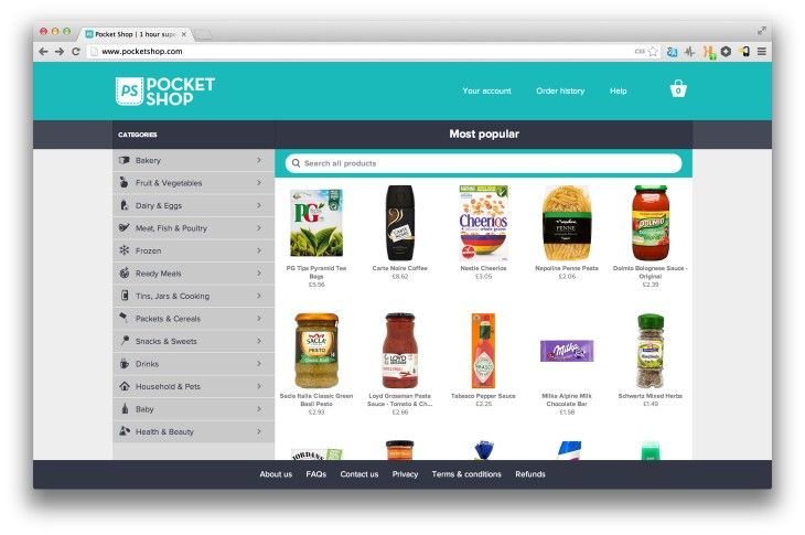 pocketshop 730x485 PocketShop: One hour grocery deliveries come to the UK