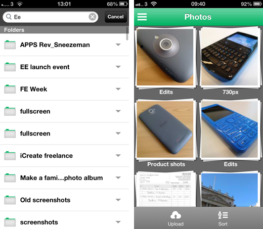sugarsync2 SugarSync revamps its iOS app with a new design and simpler interface for finding files in the cloud