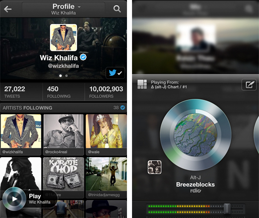twittermusic2 Twitter unveils its new #Music app for the Web and iOS, integrates with Rdio, Spotify and iTunes
