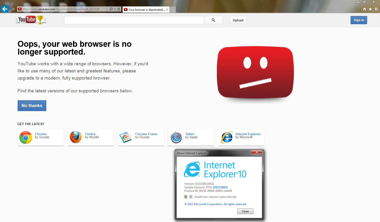 How To Upgrade To Internet Explorer 10 On Windows Xp