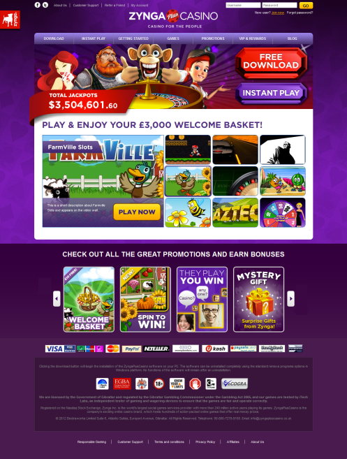 zyngapluscasino homepage screenshot1 Zynga launching real money poker and casino games in the UK on April 3, Facebook and mobile versions in 2013