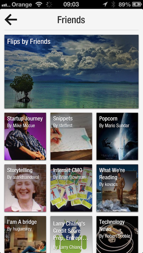 2013 05 13 09.03.06 Flipboard updates iOS app with new profile pages, SMS sharing and Friends category