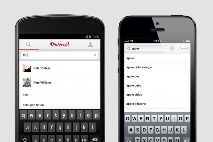 2013051303 730x486 Pinterest for Android and iOS get push notifications, predictive search results and friend mentions