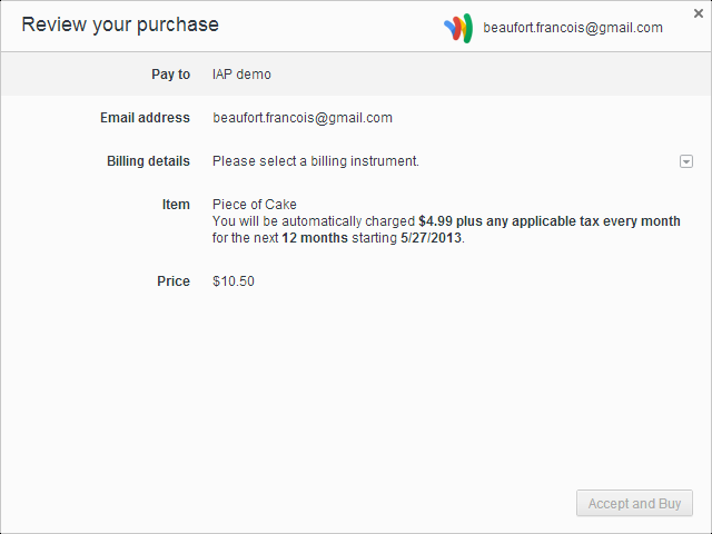 Image 047 Google adds in app payments to the latest Chrome build as it prepares to bundle Google Wallet in its browser