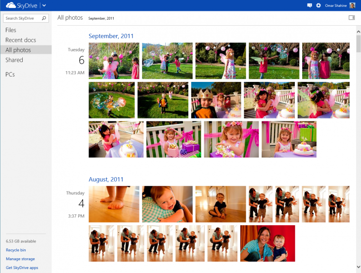 SkyDrive timeline view 5F410748 730x553 Microsoft rolls out new SkyDrive timeline and filmstrip views, speeds up photo uploads three fold, and more