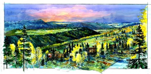 Village Watercolor 520x258 Entrepreneurial events firm Summit Series acquires Utah's Powder Mountain ski resort for $40m