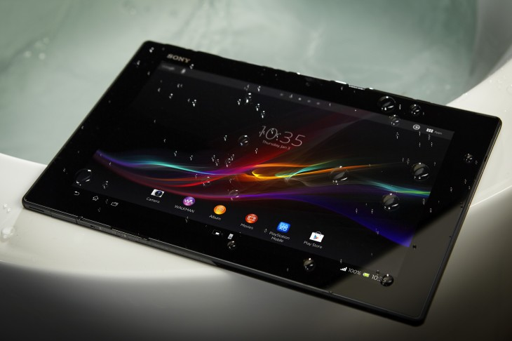 "Xperia Tablet Z Water 730x486 Sony's ultra thin 10.1"" Xperia Tablet Z is now available to buy worldwide from $499.99"