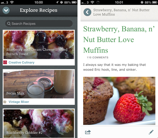 evernote2 Evernote Food brings Foursquare venue ratings to the fore, adds auto lock feature and new recipe partners