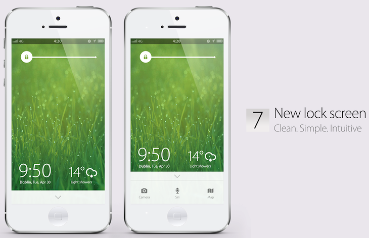 iOS7 lock screen concept A stunning concept of what Apples iOS 7 could (and perhaps should) be like [Video]