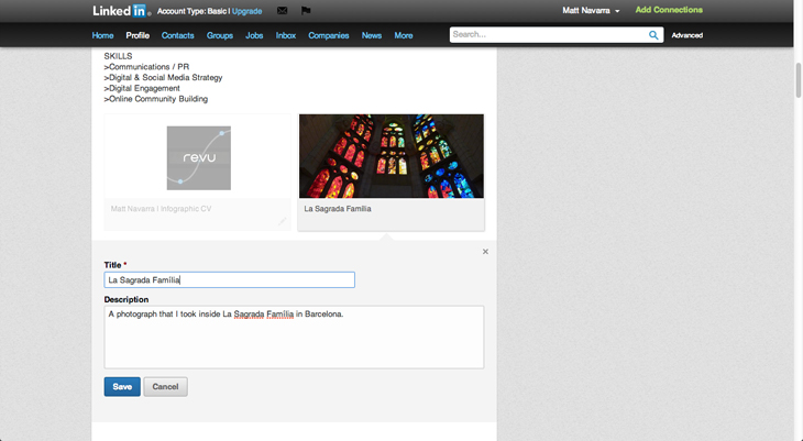 linkedin1 LinkedIn now lets users add photos, videos and other rich media to their profile pages