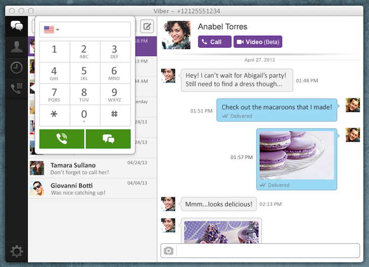 one on one with keypad Viber hits 200m users, rivals Skype with video calling in new Mac and Windows desktop apps