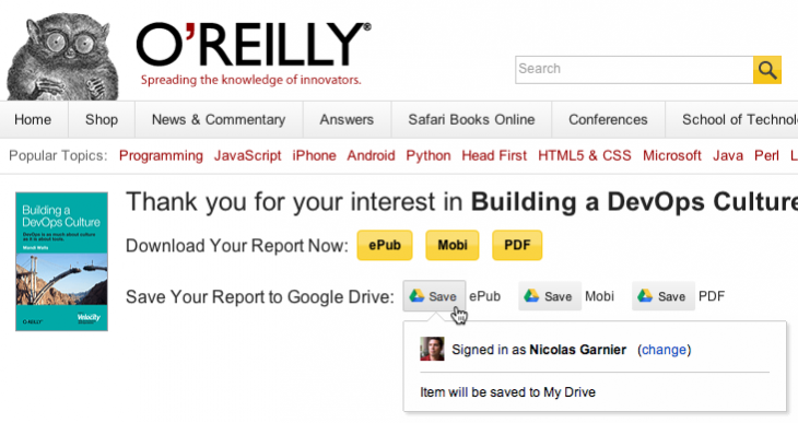oreilly 730x387 Google launches a one click button to save files on the Web to Google Drive
