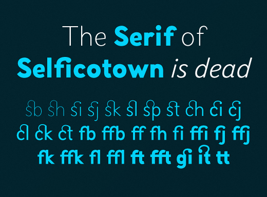 selfica 30 of the most beautiful typeface designs released last month (April)