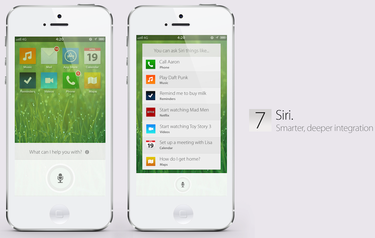 siri ios7 concept design A stunning concept of what Apples iOS 7 could (and perhaps should) be like [Video]