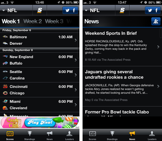 thescore TheScore secures $16 million in funding to beef up its mobile sport apps