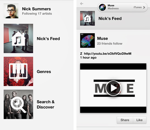 yapmusic1 Yap Music offers the simplicity of Instagram as an iPhone music discovery app