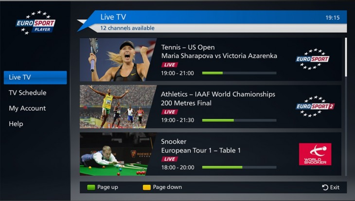 eurosport player smart tv