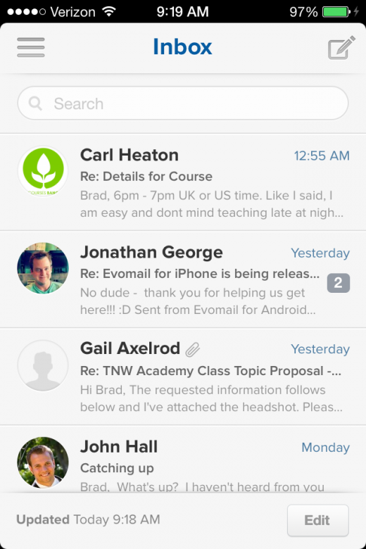 IMG 0616 520x780 Evomail brings its gorgeous email client to the iPhone and its now available for free