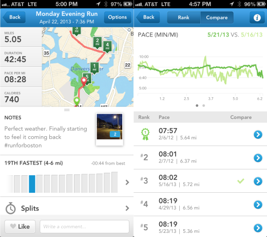 RunKeeper Ranking Compare RunKeeper 3.5 for iOS hits the streets, makes it easier to brag about how fit you are