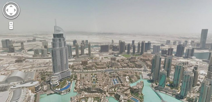 SView 730x351 Google takes Street View to the top of Dubais Burj Khalifa, the worlds tallest manmade structure