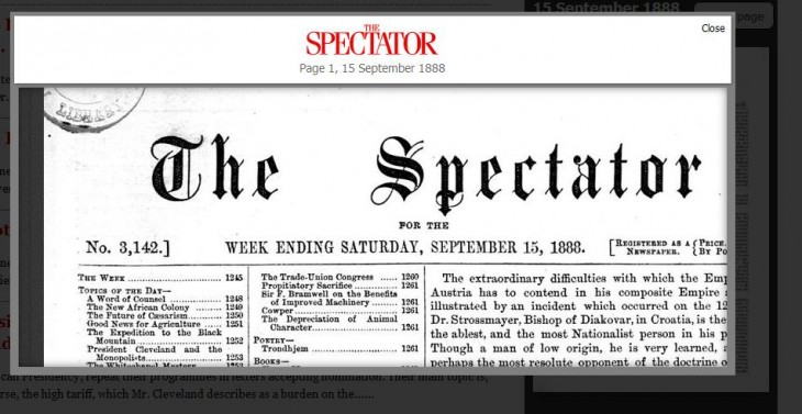 Spectator3 730x377 UK magazine The Spectator finally launches its 180 year online archive