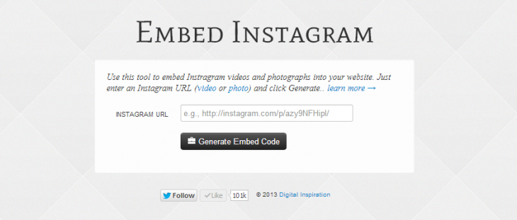 embed instagram 730x311 Embed Instagram lets you publish photos and videos from Instagram to your blog or website