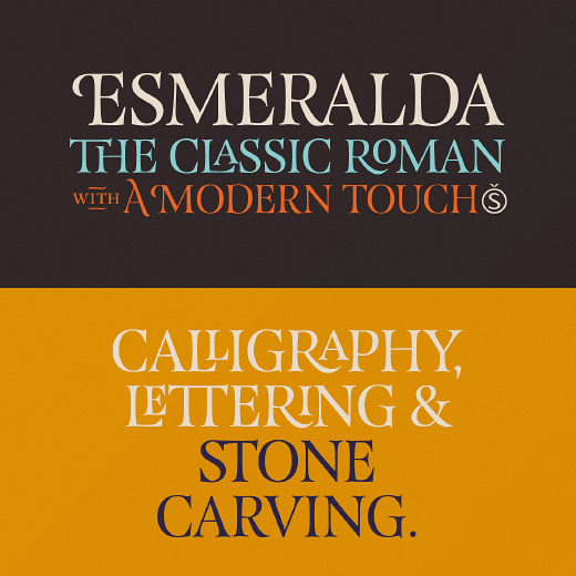 esmeralda The 24 most beautiful typefaces released last month