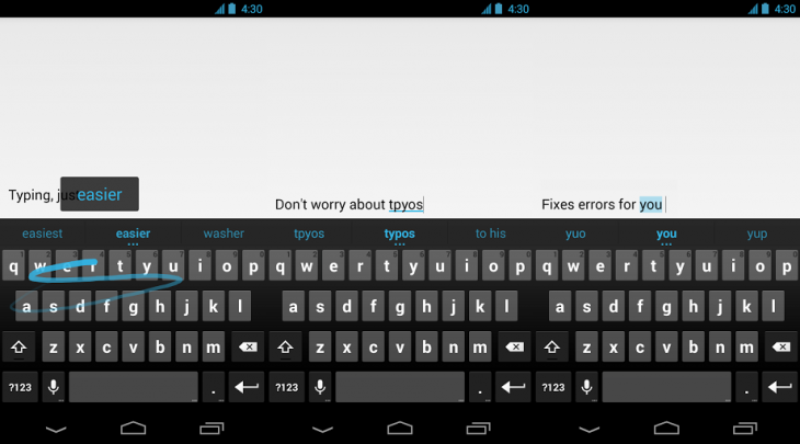 google keyboard 730x405 Google makes its stock Google Keyboard gesture typing app available on the Play store
