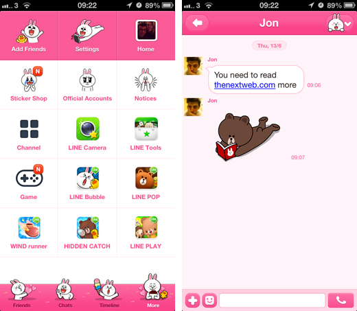 line2 LINE for iOS gets themes, an in app browser and support for German, Italian and Portuguese