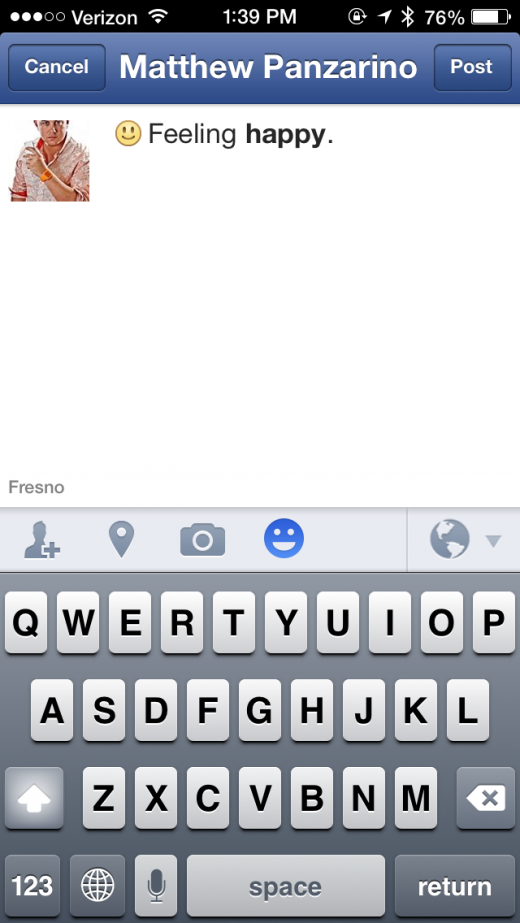 photo 3 520x923 Facebook for iOS update brings status action icons and easier privacy control