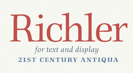 richler The 24 most beautiful typefaces released last month