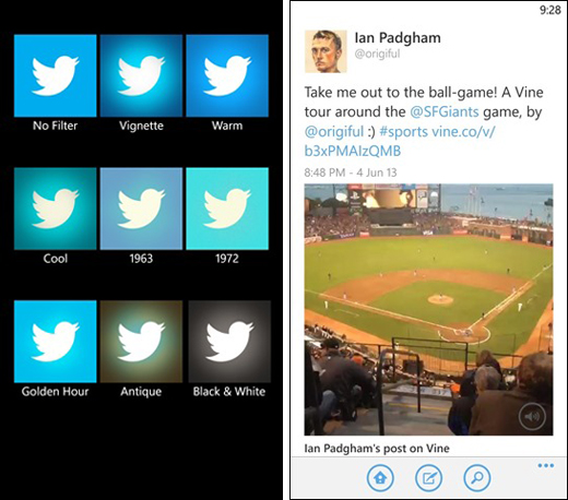 twitter wp8 Twitter updates its Windows Phone 8 app with arty photo filters, Vine playback and Lens app support