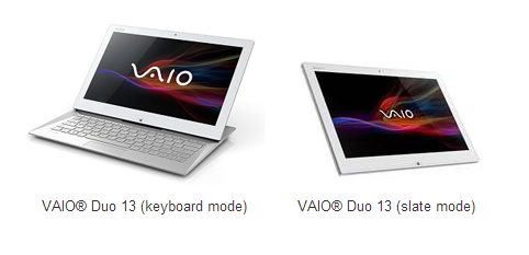 vaio1 Sony launches three new Haswell powered ultrabooks, including the Vaio Duo 13 laptop tablet