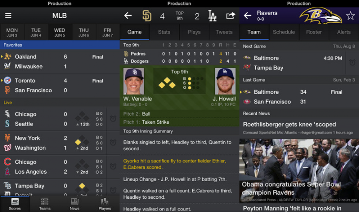 yahoo sports 730x432 Yahoo Sports redesigned for Android and iOS with faster experience, more content, iPad support, and more