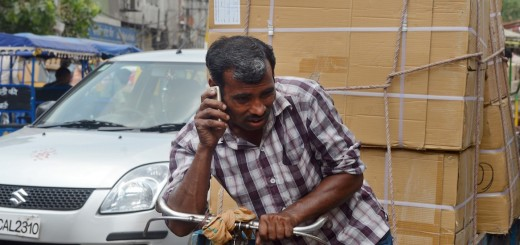 Indian man on phone
