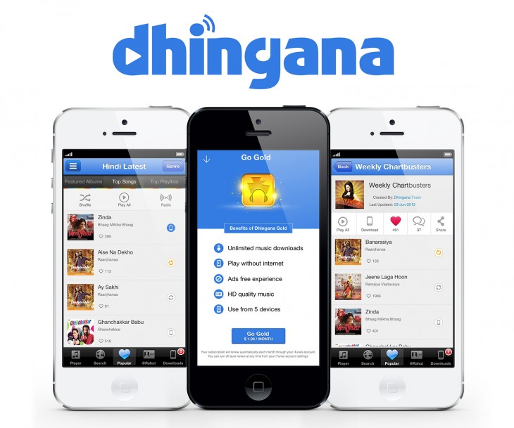 Dhingana Screenshot 730x609 Indian music service Dhingana launches ad free subscription for iOS at $1.99 per month