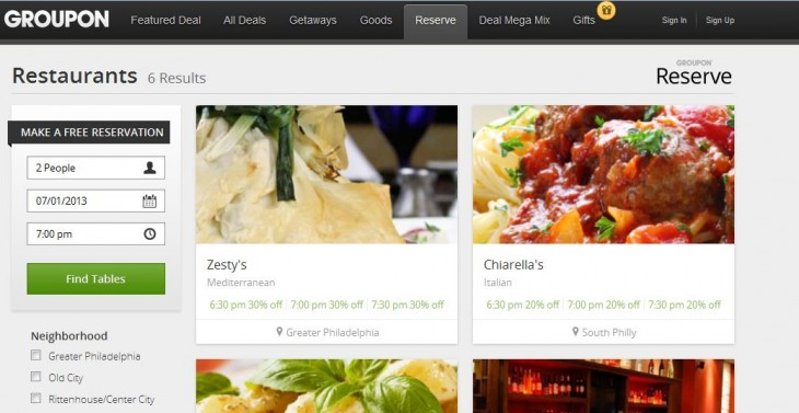 Gre 730x377 Groupon Reserve is a premium restaurant booking service for discounts without pre payment or vouchers