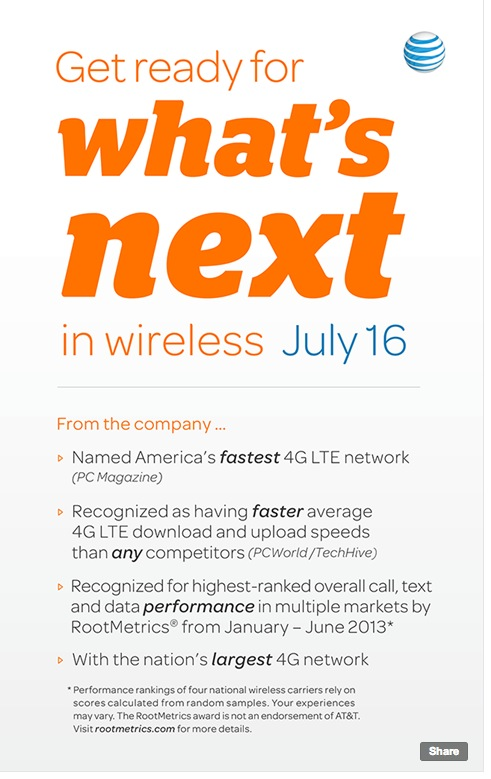 Screen Shot 2013 07 09 at 1.38.19 PM AT&T teases network related July 16th announcement, says to get ready for whats next