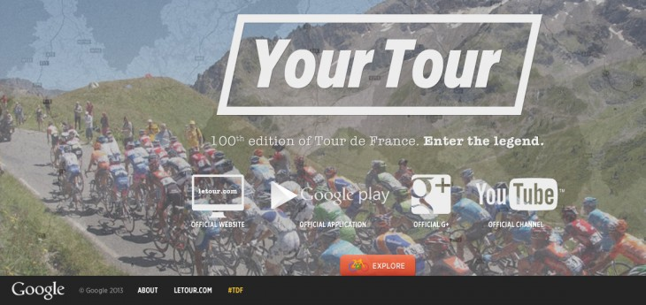 TDF 730x345 Google guides you through the Tour de France with a new interactive site featuring Street View imagery